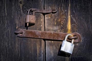 Old two rusty locks