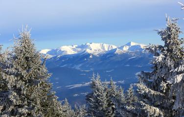 winter scene in Tatra Mountains