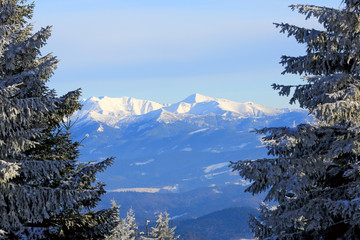 Nice winter scene in Tatra Mountains