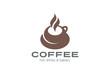 Coffee cup Logo design vector template. Hot drink Tea Mug