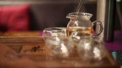 Tea ceremony in cafe