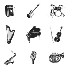 Musical Instruments And Equipment Set
