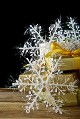 snowflakes and gifts
