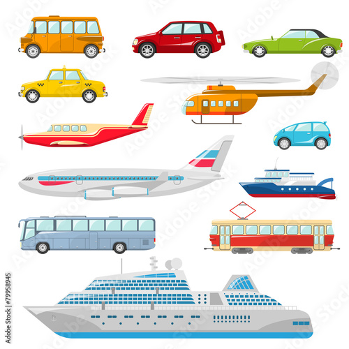 Transport Icons Flat - 79958945