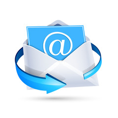 Email letter. Vector