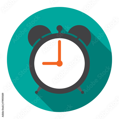 Alarm Clock in flat vector illustration