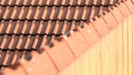 detail of red roof,rack focus