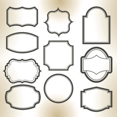 Big elegant frame set. Vector illustration.
