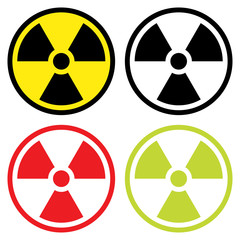 Radioactive symbol in flat design.