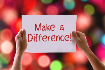 Make a Difference card with bokeh background