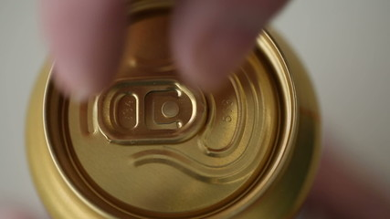 Close up of soda or beer opening