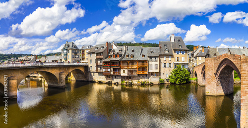 Espalion - one of the most beautiful villages of France (Aveyron - 79962321
