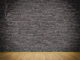 Brickswall and wooden floor background.