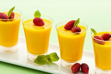 Four individual vanilla desserts