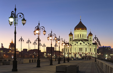 Cathedral of Christ the Savior. After the Sunset