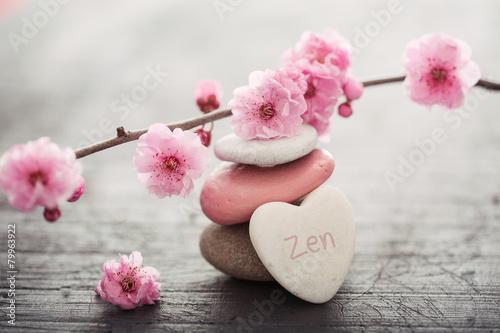 Papiers peints Zen fleurs zen