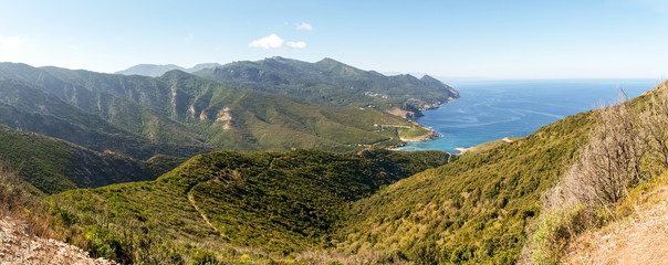 Cap Corse, the mediterranean coast.