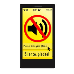 Mute your phone Sign