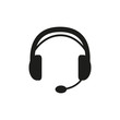 The headset icon. Support symbol. Flat - 79965104