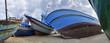 Italy, Sicily, Portopalo di Capo Passero, fishing boats ashore - 79965315