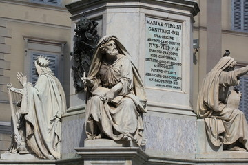 Prophet Isaiah (Isaias) statue in Rome, Italy.