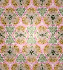 kaleidoscopic mosaic texture green pink