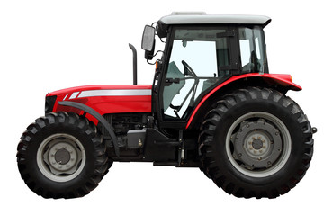 The modern red tractor