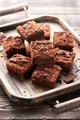 Cake chocolate brownies