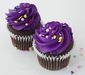 Purple dessert