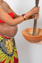 Lovely and nice Pregnant african woman, tradition and Africa