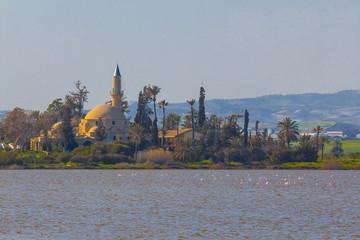 islam mosque near a lake