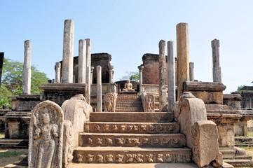 Vatadage in Polonnaruwa, Sri Lanka.