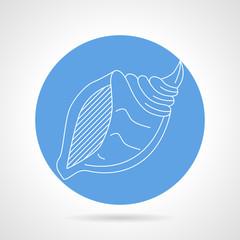 Seashell blue vector icon