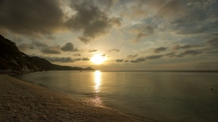 HD time lapse of sunset on Capobianco beach, Elba, Italy.