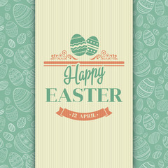 Easter greeting card. Holiday typography