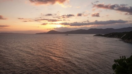 HD time lapse of sunrise on Elba island, Italy.