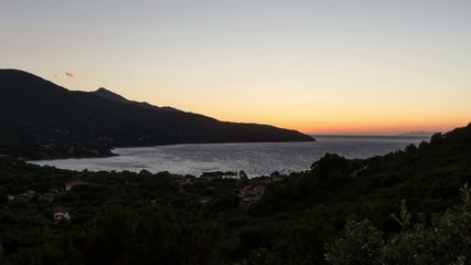HD time lapse of sunset on Procchio, Elba, Italy.