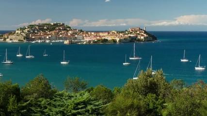 HD time lapse of harbour of Portoferraio, Elba, Italy.