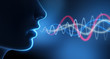 Leinwandbild Motiv Sprache - Schall