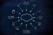 Leinwandbild Motiv big data and cloud computing, file transfes and sharing files