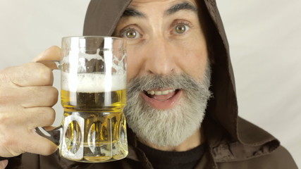 Friar face beer satisfaction