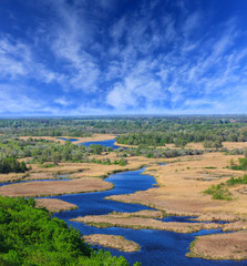 View on delta Vorskla river