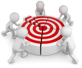 Teamwork Zieldiagramm