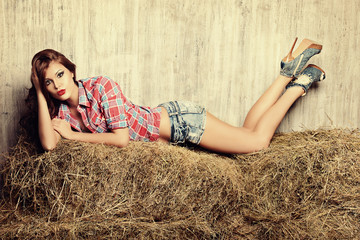 lying in the hay