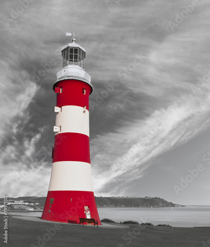The Lighthouse on the Hoe - Plymouth, UK. - 79971317