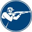 Trap Shooting Shotgun Circle Icon - 79971717