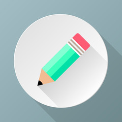 Simple green pencil icon