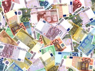Euro bank notes.