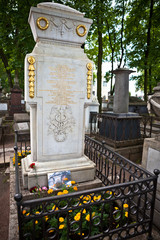 Tomb of the famous scientist and inventor Mikhail Lomonosov