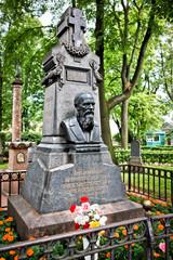 Fyodor Dostoyevsky's tomb in St. Petersburg, Russia